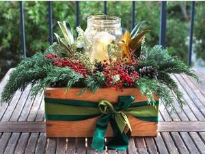 Sun Dec 13 2020 1pm, Mason Jar Centerpiece, 201213131